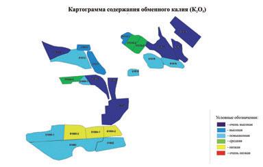 Рисунок 2. Картограмма обеспеченности почвы